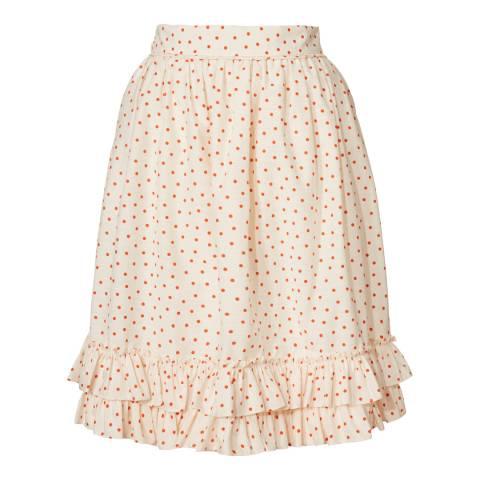 Orla Kiely Chalk/Tomato Ditsy Dot Skirt
