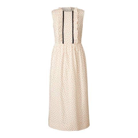 Orla Kiely Chalk/Tomato Ditsy Dot Cotton Dress