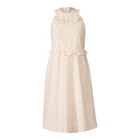 Orla Kiely Chalk/Tomato Ditsy Dot Sundress
