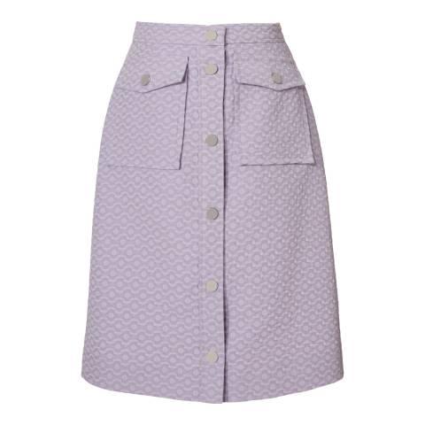 Orla Kiely Lilac Flower Spot Jacquard Skirt