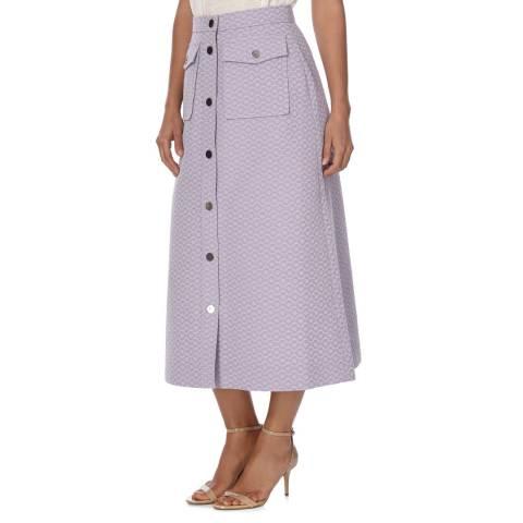 Orla Kiely Lilac Flower Spot Jacquard Skirt Midi