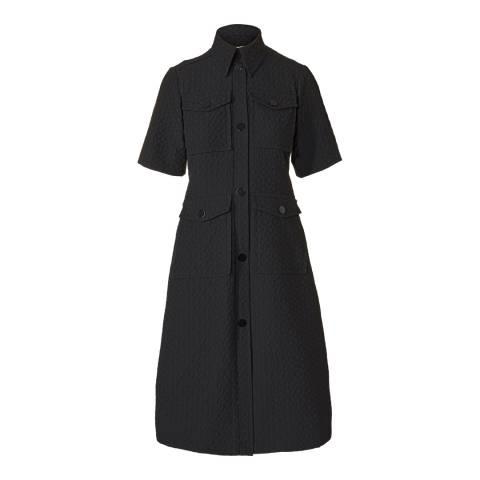 Orla Kiely Black Flower Spot Jacquard Shirt Dress