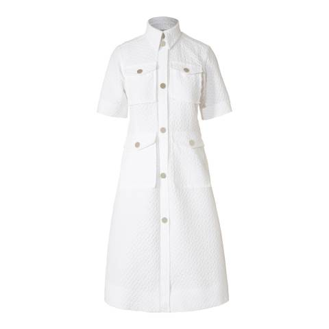 Orla Kiely Chalk Flower Spot Jacquard Shirt Dress