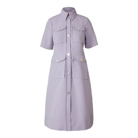 Orla Kiely Lilac Flower Spot Jacquard Shirt Dress