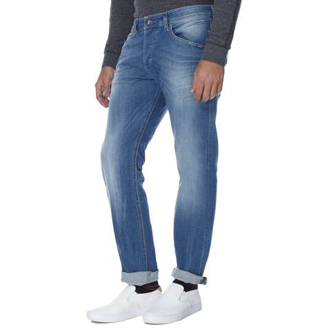 Diesel Blue Belther Cotton Stretch Tapered Jeans