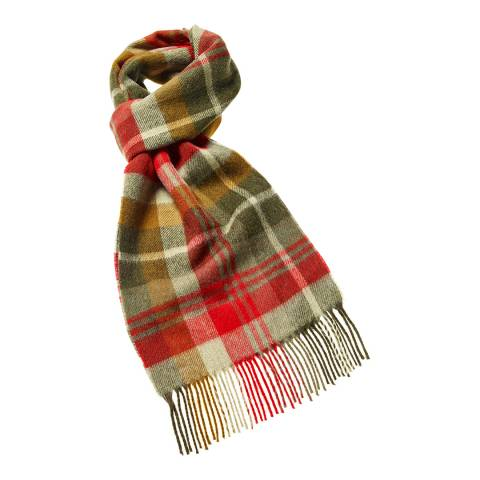Bronte by Moon Green/Red Easby Dales Scarf