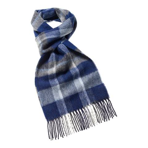 Bronte by Moon Denim Blue Fountains Dales Wool Scarf