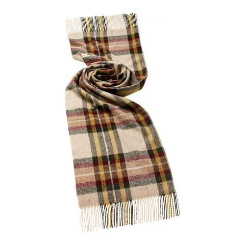 Bronte by Moon Beige Ripon Check Scarf