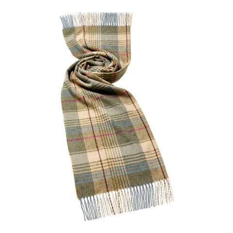 Bronte by Moon Beige/Green Swale Check Scarf