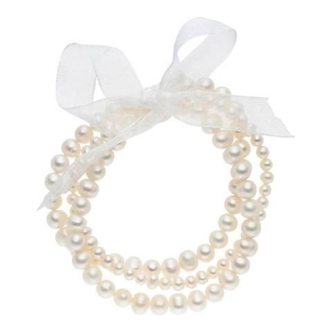 Nova Pearls Copenhagen White Freshwater Pearl Bracelet