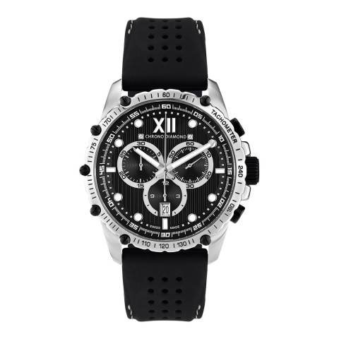 Chrono Diamond Men's Steel/Black Neelos Watch
