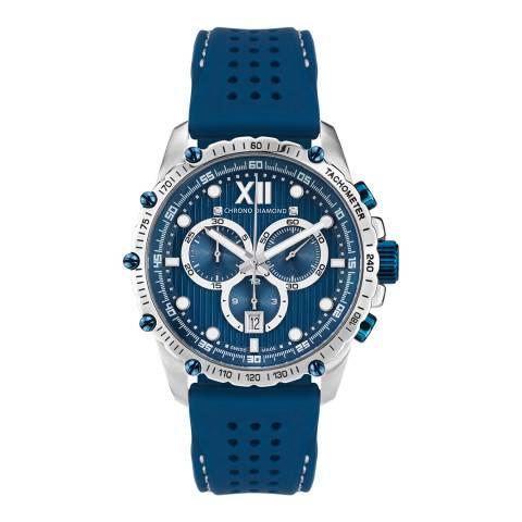 Chrono Diamond Men's Steel/Blue Neelos Watch