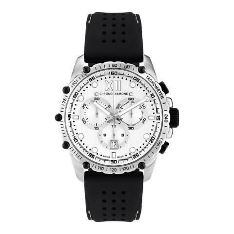 Chrono Diamond Men's Silver/Black Neelos Watch