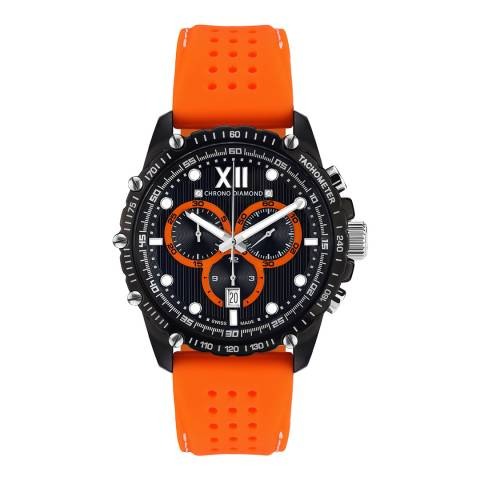 Chrono Diamond Men's Orange Black Neelos Watch