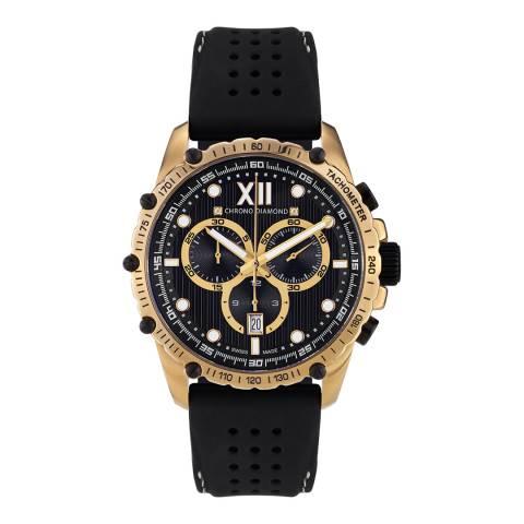 Chrono Diamond Men's Gold/Black Neelos Watch