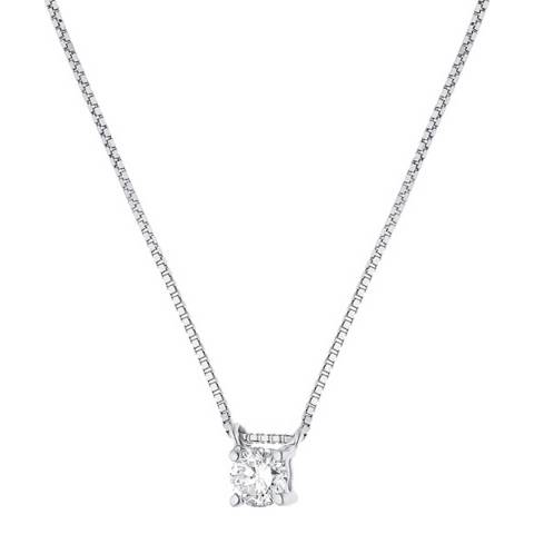 Only You White Gold Solitaire Diamond Necklace 0.15cts