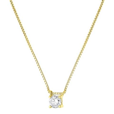 Only You Yellow Gold Solitaire Diamond Necklace 0.15cts