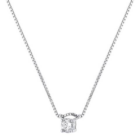Only You White Gold Solitaire Diamond Necklace 0.10cts