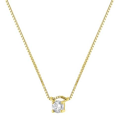 Diamant & Argent Yellow Gold Solitaire Diamond Necklace 0.10cts