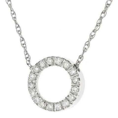 Diamond Design White Gold Circle Diamond Necklace