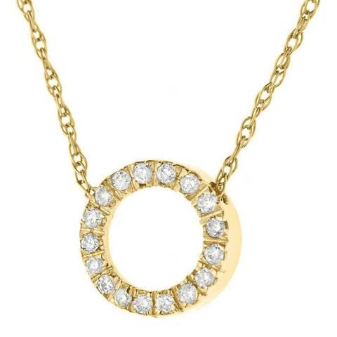 Diamant & Argent Yellow Gold Circle Diamond Necklace