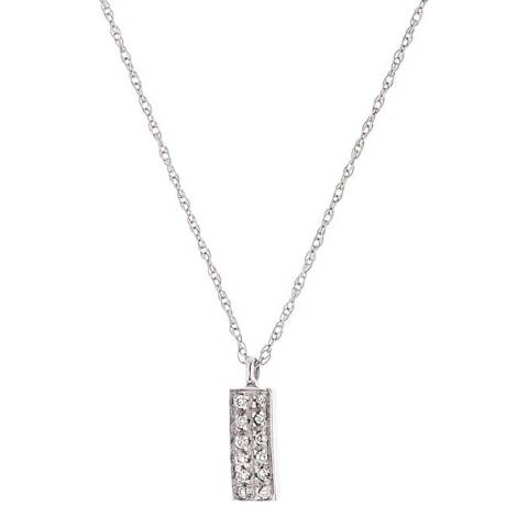 Diamant & Argent White Gold Rectangular Diamond Necklace