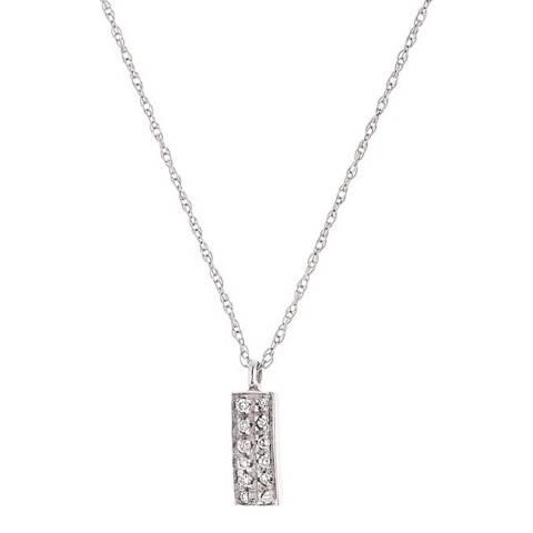 Diamond Design White Gold Rectangular Diamond Necklace