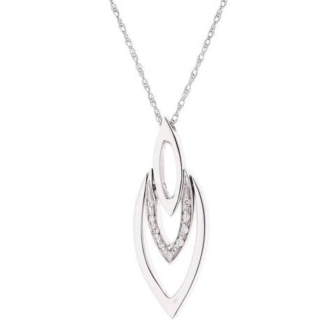 Diamond Design White Gold Diamond Necklace