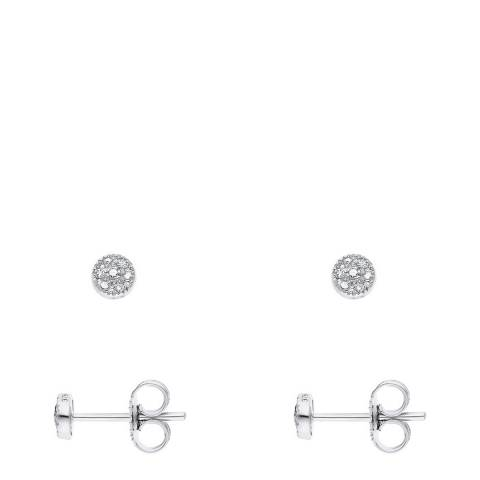 Pretty Solos White Gold Solitaire Earrings
