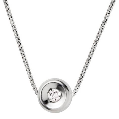 Diamond Design Silver Diamond Necklace 0.03cts