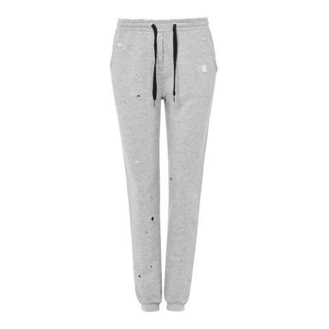 Zoe Karssen Grey Jersey Distressed Sweatpants