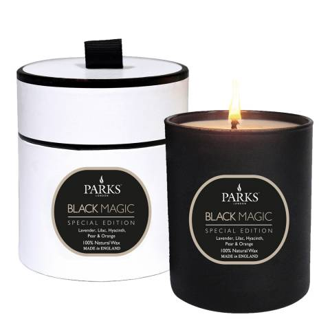 Parks London Lavender/Lilac/Hyacint/Pear and Orange Black Magic Single Wick Candle