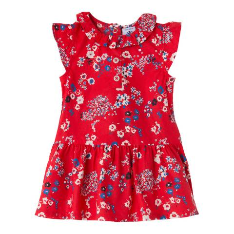 Petit Bateau Baby Girl's Red Printed Dress