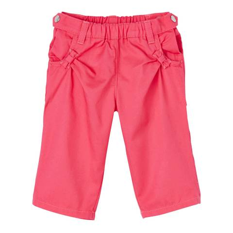 Petit Bateau Girl's Pink Twill Trousers
