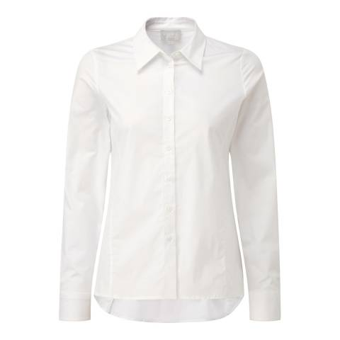 Pure Collection White Cotton Trapeze Shirt