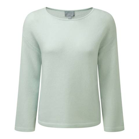 Pure Collection Iced Grey Flute Sleeve Sempre Jumper