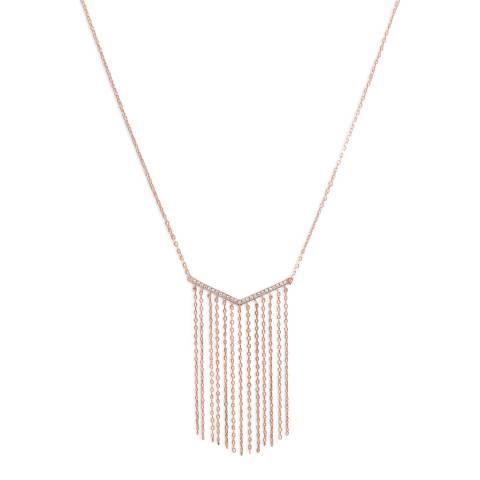 Chloe by Liv Oliver Rose Gold V Tassel Drop Necklace