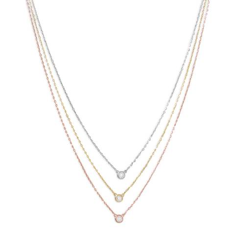 Chloe Collection by Liv Oliver Gold/Silver Zirconia Necklace