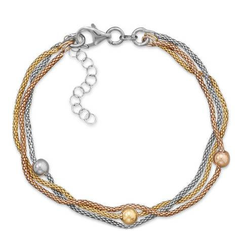 Chloe Collection by Liv Oliver Gold/Silver Multi Strand Bracelet