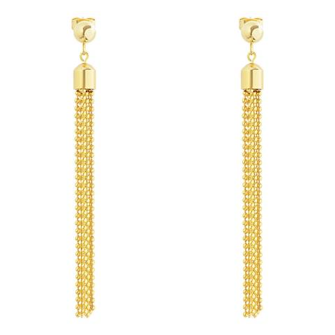 Chloe Collection by Liv Oliver Gold Chain Drop Earrings