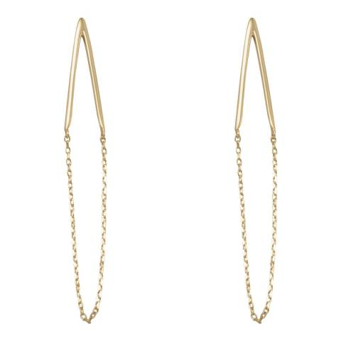 Chloe Collection by Liv Oliver Double Bar Chain Drop Earrings