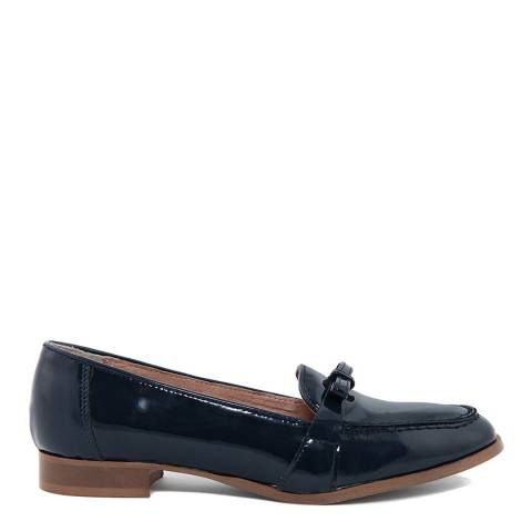 Giorgio Picino Navy Patent Leather Loafers