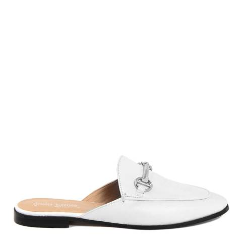 Giorgio Picino White Leather Horsebit Slip On Loafers