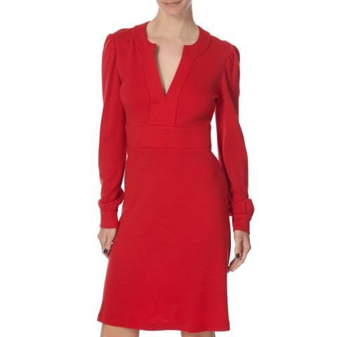 Diane von Furstenberg Red Wool Leyah Dress