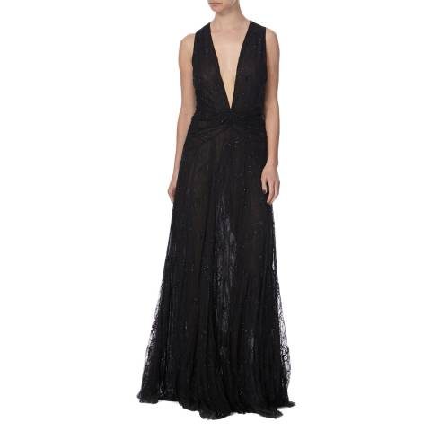 Diane von Furstenberg Black Infanta Gown