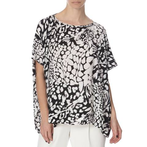 Diane von Furstenberg Black/White Silk Top