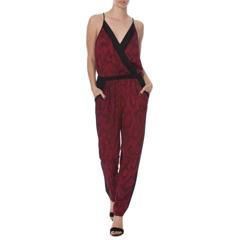 Diane von Furstenberg Red/Black Silk Shany Dress