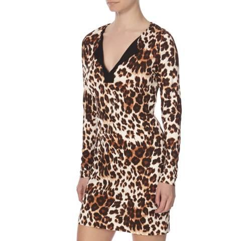 Diane von Furstenberg Leopard Print Silk Reina Dress