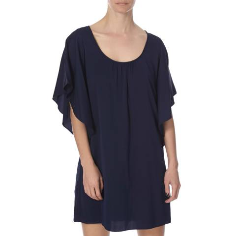 Diane von Furstenberg Navy Stella Dress