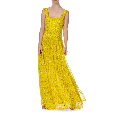 Diane von Furstenberg Yellow Silk Lillie Dress